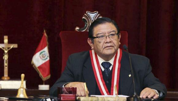 El presidente del JNE, Jorge Luis Salas, también hizo una exhortación al recordar que el cuidado contra la pandemia del COVID-19 es un esfuerzo que tiene que hacer la ciudadanía en conjunto. Foto: Andina