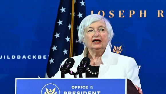 Janet Yellen fue elegida como secretaria del Tesoro. (Foto: Archivo/ Chandan KHANNA / AFP)