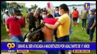 Ucayali: mujer queda grave tras ser atacada a machetazos por asaltante