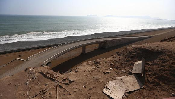 Hace cuatro años, Odebrecht debió entregar terminada la autopista de la Costa Verde del Callao, que uniría los distritos de La Punta y Chorrillos en 25 minutos. (Foto: El Comercio)
