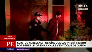 Independencia: sujetos agreden a policías que los intervinieron por beber alcohol en la calle