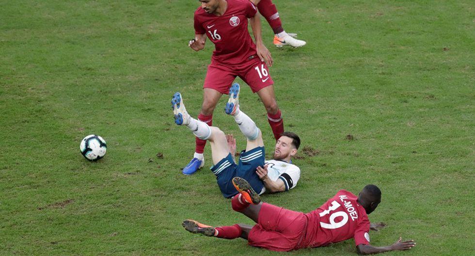 Argentina vs. Qatar. (Foto: AFP)