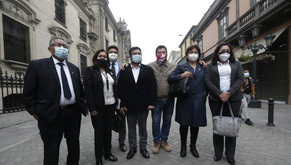 Integrantes de la bancada de Acción Popular. (Foto referencial archivo GEC)