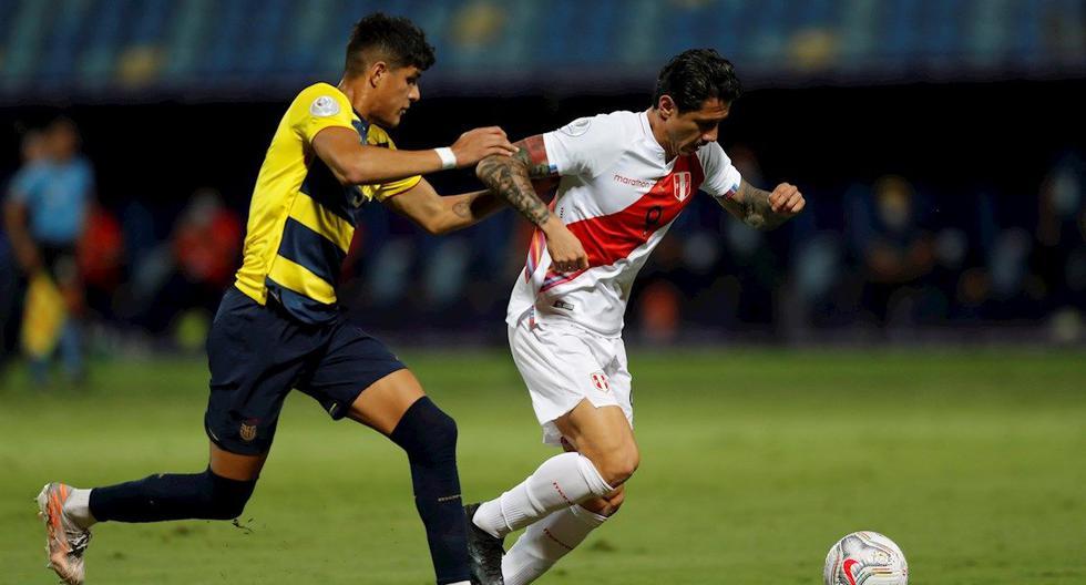 Gianluca Lapadula anotó el descuento de Perú ante Ecuador por la Copa América 2012. (Foto: EFE)