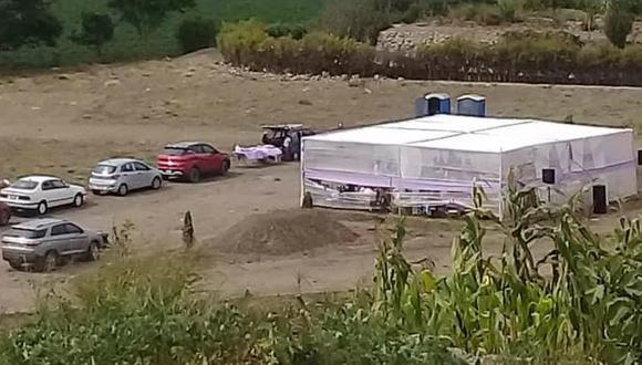 Policía Nacional intervino matrimonio con 40 invitados en un descampado de Cañete. (Foto: captura de pantalla)