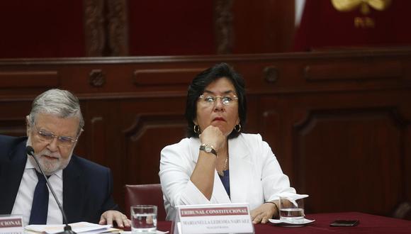 Magistrada Marianella Ledesma criticó al presidente del TC, Ernesto Blume. (Foto: GEC)