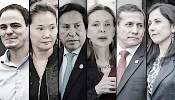 Parejas políticas. No solo los acompañaron hasta el sillón presidencial o en aventuras políticas, también son las pareja más investigadas por el Ministerio Público y Poder Judicial. (El Comercio)