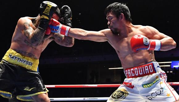 Polémico audio compromete a Manny Pacquiao con supuestas irregularidades en los controles antidoping. (AFP/Reuters)