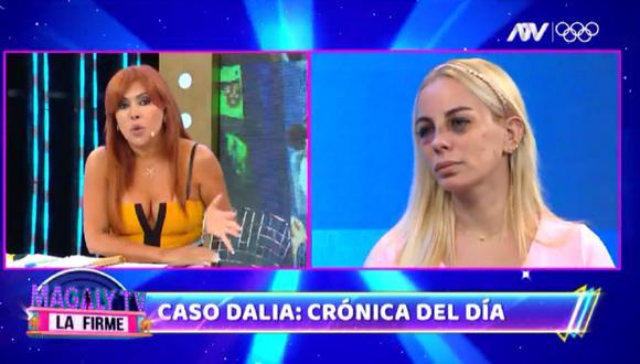 Dalia Durán narró cómo fue agredida por John Kelvin. (Foto: Captura Magaly TV: La Firme).
