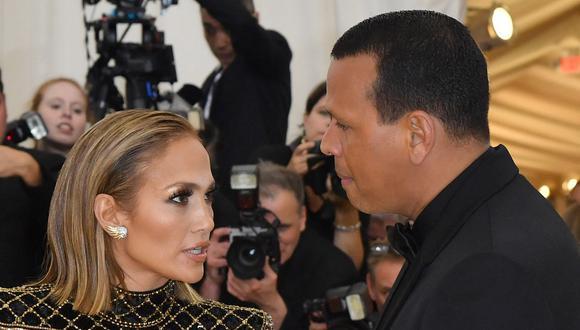 Jennifer Lopez y Alex Rodríguez en una imagen de mayo de 2018. (Foto: AFP)