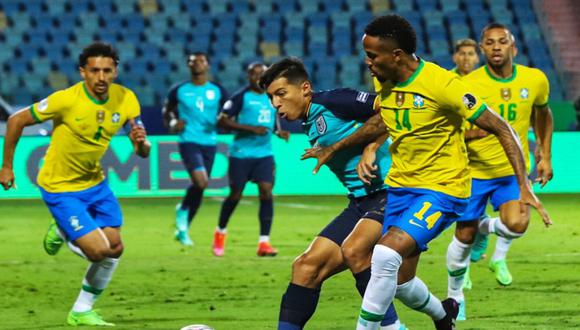 Ecuador y Brasil se enfrentan por la Copa América | Foto: @LaTri