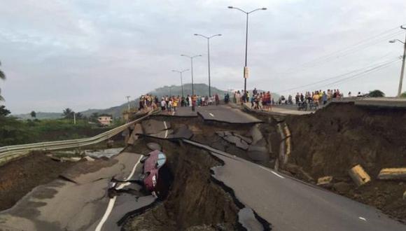Terremoto en Ecuador: Así se abrió la tierra en Portoviejo