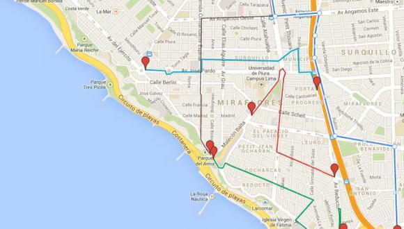 Corso Wong 2014: conoce las rutas alternas para el tránsito