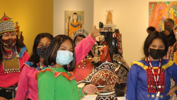 La inauguración contó con la participación de 18 artístas amazónicos. (Foto: Municipalidad de MIraflores)