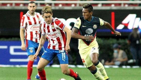 Pedro Aquino está valorizado en 4.5 millones de euros, según Transfermartk. Disputó 9 partidos del Clausura 2021 de la Liga MX con el América y anotó dos goles. (Foto: AFP)