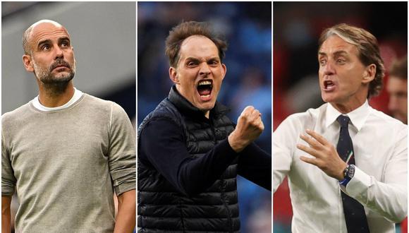 Guardiola, Tuchel y Mancini han sido nominados al mejor DT europeo del año | Fotos: Agencias