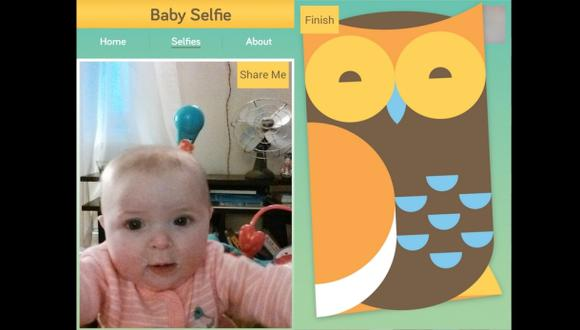 Los bebes también pueden tomarse 'selfies'