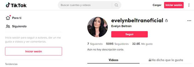 La cuenta de Instagram de Evelyn Beltrán ha sido puesta en modo privado (Foto: Evelyn Beltrán / Tik Tok)