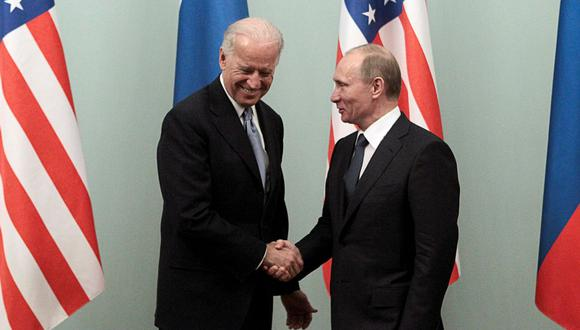 Joe Biden, presidente de Estados Unidos, y Vladimir Putin, mandatario ruso. (Foto: Reuters)