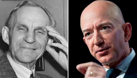 Ford y Bezos han dominado el mundo de los negocios en sus respectivas épocas. (Foto: Getty Images)