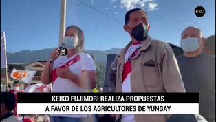 Keiko Fujimori realiza propuestas a favor de los agricultores de Yungay