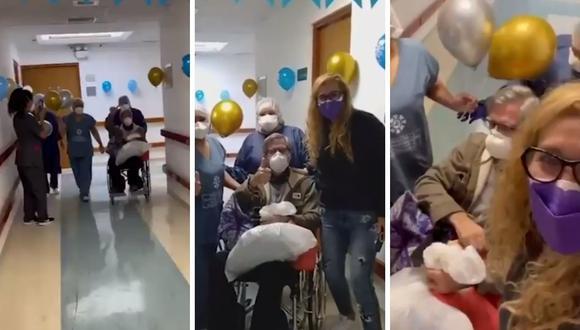 Federico Salazar se reencuentra con su esposa al salir de la clínica donde estuvo hospitalizado por el COVID-19. (Foto: Twitter @katiacondos)