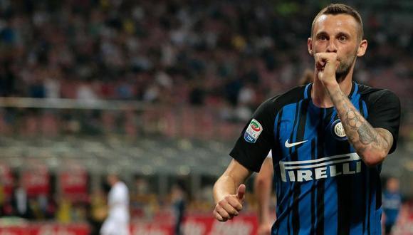 Marcelo Brozovic juega como volante en el Inter de Milán. (Foto: AFP)