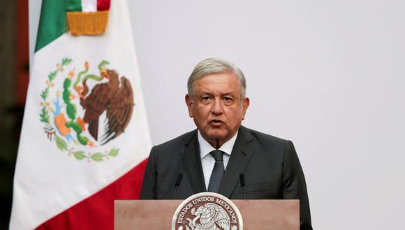 El presidente de México, Andrés Manuel López Obrador (AMLO), se dirige a la nación en el Palacio Nacional en la Ciudad de México, el 1 de diciembre de 2020. (REUTERS/Henry Romero/Archivo).
