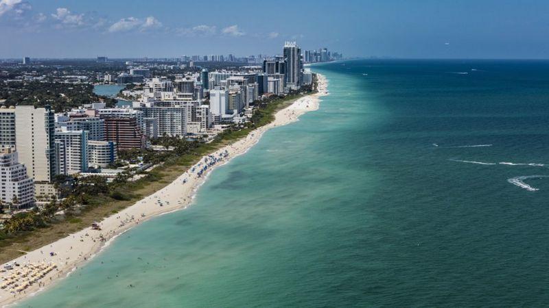 Miami Beach is a popular tourist destination.