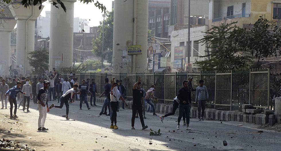 Graves disturbios en Nueva Delhi, cuando el presidente de Estados Unidos, Donald Trump, está por llegar. (Foto: AP)