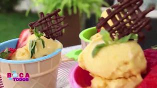 Tres minutos de dulzura: aprenda a preparar helado de mango