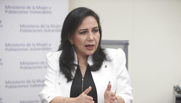 Ministra de la Mujer exhortó a que se permita al Ministerio Público y al Poder Judicial a cumplir con sus roles. (Foto: GEC)