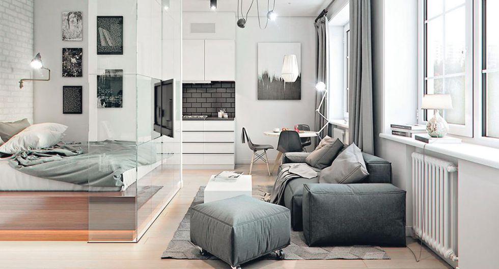 El poco espacio no es excusa para que un departamento deje de lucir confortable. La firma Konstantin Entalcev Studio te da las claves para lograr ambientes limpios y contemporáneos en un espacio de 32 m2. (Foto: Konstantin Entalcev Studio)