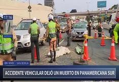 Panamericana Sur: pasajero murió tras choque de combi y camión a la altura del intercambio El Derby