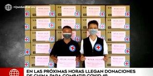Coronavirus en Perú: En las próximas horas llegan donaciones de China