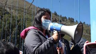 Keiko Fujimori realiza campaña en Huaraz y se compromete a construir un puente carrozable en el poblado de Quechcap