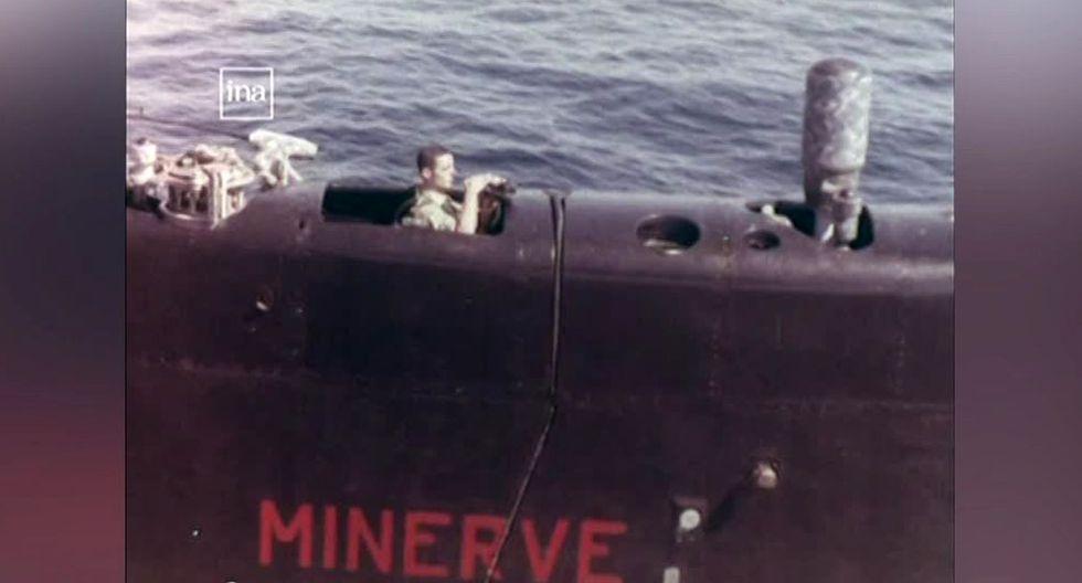 """El submarino militar """"La Minerve"""" desapareció el 27 de enero de 1968. (Foto: captura INA)"""