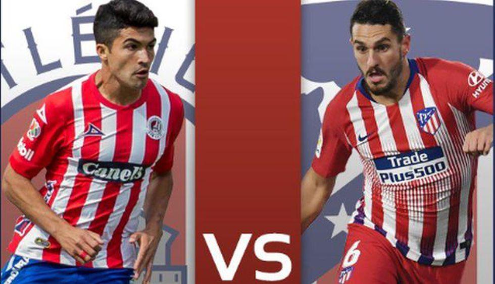 Atlético de Madrid y San Luis afrontan un duelo de preparación. (Foto: @AtletideSanLuis)