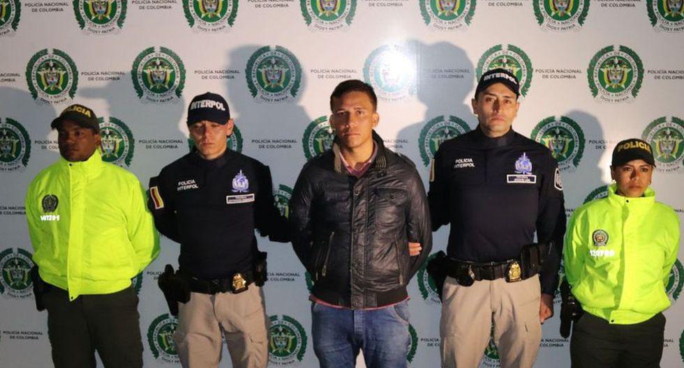 'Machelo' fue detenido en Colombia. (Foto: Interpol Colombia)