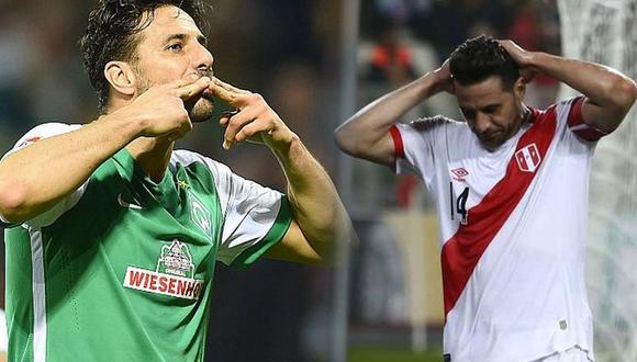 Claudio Pizarro mostró su mejor rendimiento en Alemania. En la selección no pudo repetir esos números. (Fotos: EFE y USI. Composición: El Comercio)