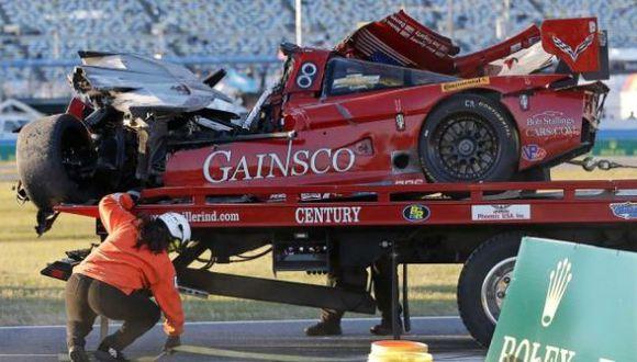 VIDEO: Tremendo accidente en las 24 Horas de Daytona