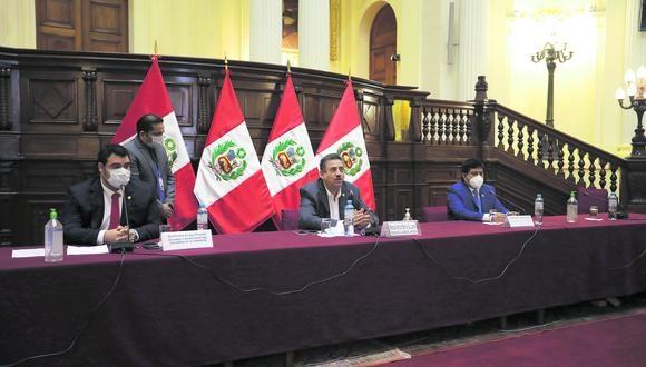 Las sesiones del pleno del Congreso y de las comisiones continuarán realizándose de manera virtual a través de la plataforma Microsoft Teams, por acuerdo de la Mesa Directiva, informó el segundo vicepresidente del Parlamento, Guillermo Aliaga (Somos Perú). (Foto: GEC)