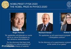 Nobel de Física 2020 fue entregado a estudiosos de los agujeros negros   VIDEO