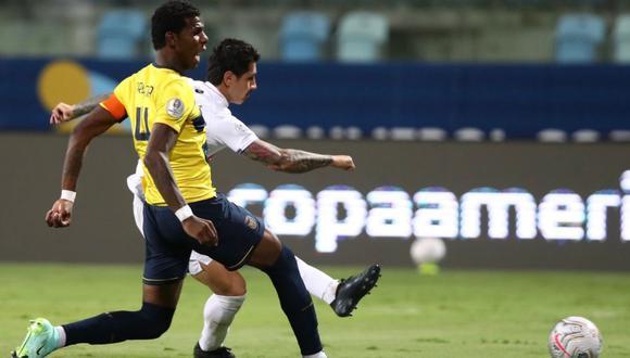 Gianluca Lapadula fue la figura de la selección peruana en el empate 2-2 contra Ecuador por la Copa América | Foto: @SeleccionPeru