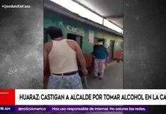 Coronavirus en Perú: En Huaraz vecinos castigaron a alcalde por tomar licor en la calle
