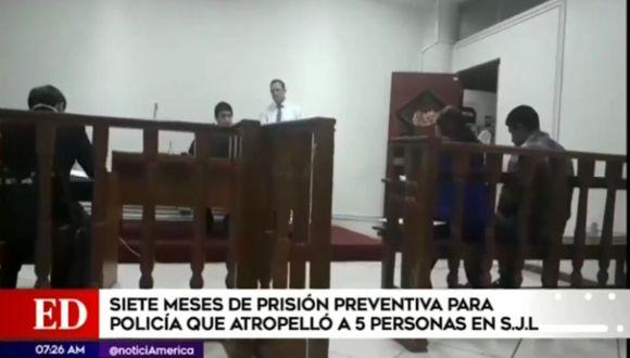 La audiencia se desarrolló en privado en la Corte Superior de Justicia de Lima Este en San Juan de Lurigancho. (Foto captura: América Noticias)