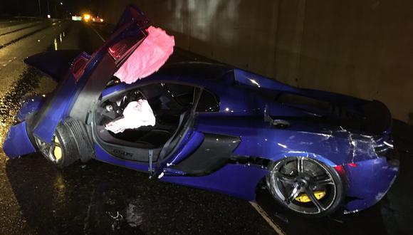 El hombre ahora tendrá que enfrentar a las autoridades y asumir la costosa reparación de McLaren 650SS. (Foto: Twitter).
