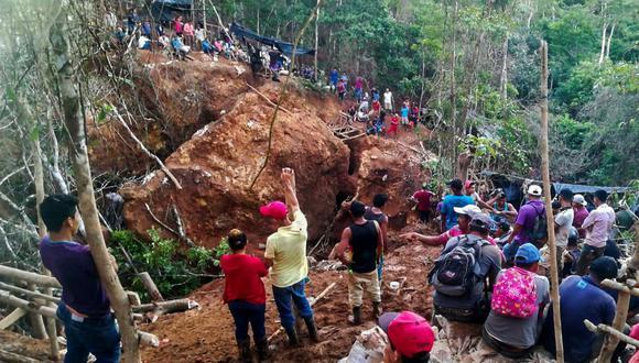 El accidente se produjo el viernes en una mina ubicada en la comunidad La Esperanza, en Río San Juan, unos 200 km al sureste de Managua, la capital de Nicaragua. (AFP).