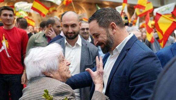 El líder de Vox, Santiago Abascal, logró llenar sus mítines en los actos de campaña.