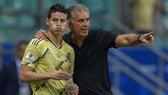 Carlos Queiroz tomó las riendas de la Selección Colombia en febrero del 2019. (Fuente: AFP)